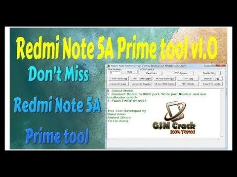 Redmi Note 5A prime tool v1 0 mi account remove 1000