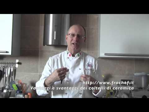 Corso di cucina: i vantaggi dei coltelli di ceramica