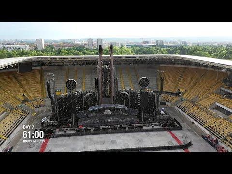 Rammstein השיקו סרטון דילוג-זמן על הקמת הבמה למופע ההרכב