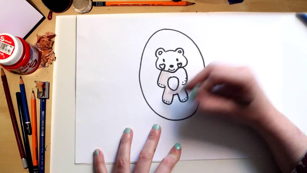 Como desenhar um Ursinho de Pelúcia - desenhos para crianças