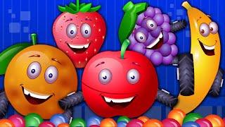 Five Little Fruits | Nursery Rhyme