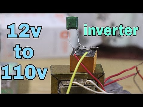 12v To 110v Inverter Using capacitor