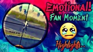 PUBG MOBILE EMOTIONAL FAN MOMENT | DIE HARD FAN OF DYNAMO GAMING