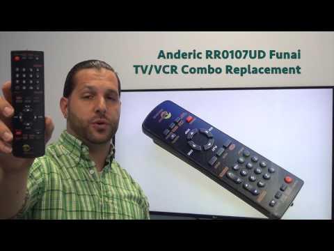 ANDERIC RR0107UD FUNAI TV/VCR Combo Remote Control