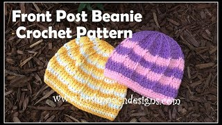 Front Post Beanie Crochet Pattern