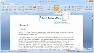 How to number the pages of a Word 2007 document?