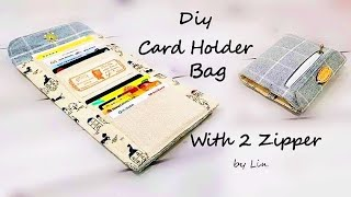 DIY BAG IDEAS ~ 【USEFUL CARD HOLDER WALLET】#HandyMum
