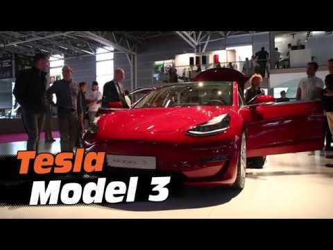 Tesla Model 3 : découverte au #MondialAuto2018