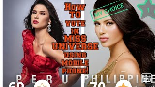 HOW TO VOTE IN MISS UNIVERSE USING MOBILE PHONE