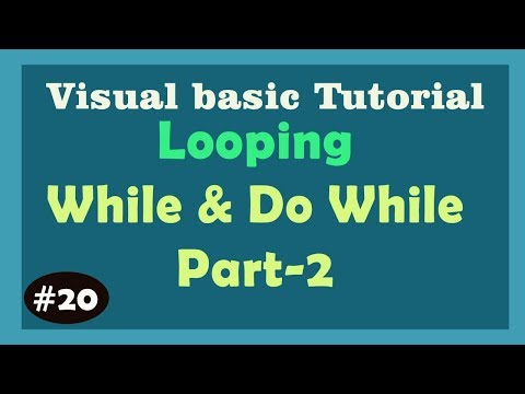While and Do While Loop - Loops in Visual Basic   Learn Visual Basic