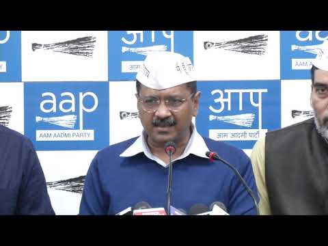 AAP National Convenor Arvind Kejriwal Addressed Media on Upcoming Lok Sabha Election