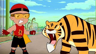 Mighty Raju VS Ferocious Tiger   Adventure Videos for Kids in Hindi   Cartoons for Kids