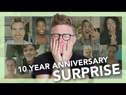 10 YEAR SURPRISE REACTION | Tyler Oakley