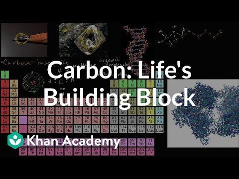 Carbon as a building block of life (video) | Khan Academy
