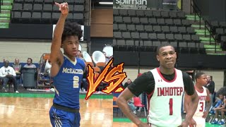 REMATCH! McEachern vs Imhotep  Sharife Cooper GOES OFF in 2nd Half! Cancer Research Classic Finale