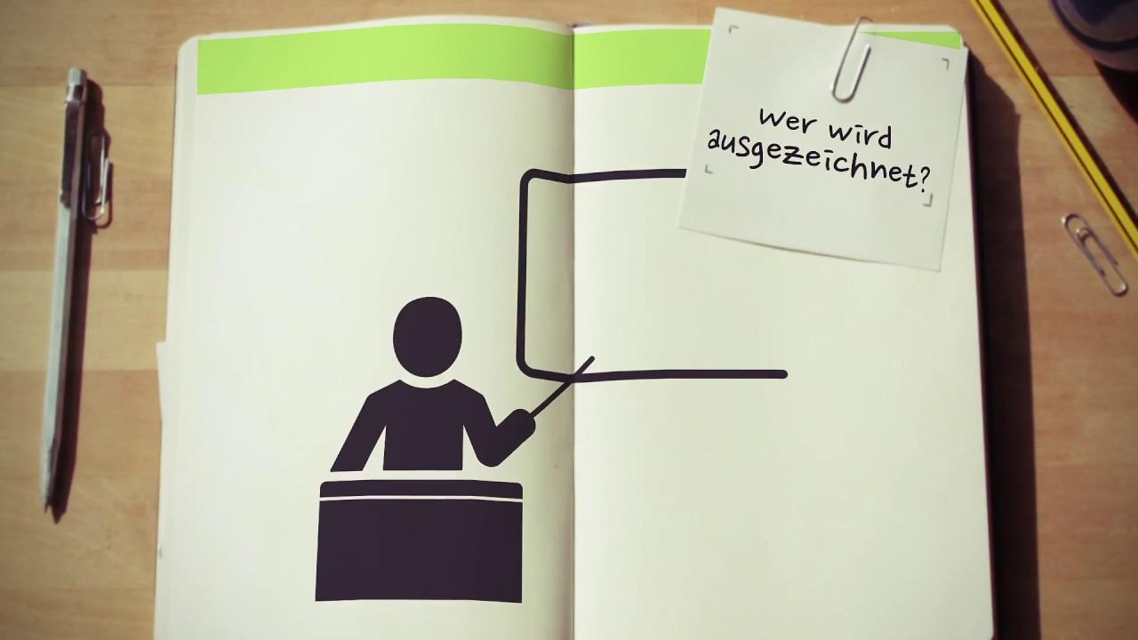 Video-Thumbnail des Erklärvideos: Animiertes Icon eines dozierenden Wissenschaftlers in aufgeschlagenem Notizbuch