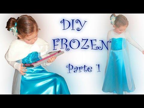1.Disfraz Frozen - hacer patrón vestido