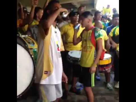 """Previa Rebelion Auriverde Norte antes del partido REAL CARTAGENA vs Quindio. Instrumental Heroica"" Barra: Rebelión Auriverde Norte • Club: Real Cartagena"