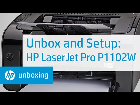 Unboxing and Setting Up the HP LaserJet Pro P1102W Printer