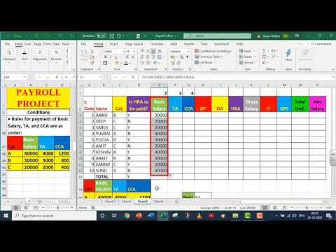 EXCEL PAYROLL PART - 3