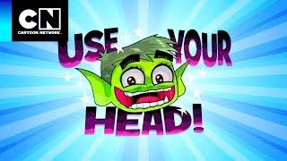 Usando a cabeça | Os Jovens Titãs em Ação | Mês do Riso | Cartoon Network