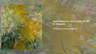 Piano Sonata no. 10 in C major, K. 330