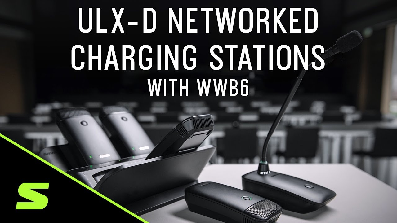 How to use Shure ULX-D Networked Charging Stations with WWB6