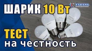 Светодиодные лампы шар 10Вт. Тест на честность