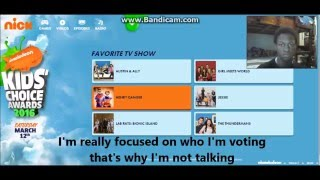 Me voting at the Kids Choice Awards 2016