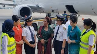 Video Aksi Menteri Susi Jadi Pramugari dalam Penerbangan dari Jakarta ke Jogja