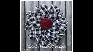 DIY Burlap Flower Wreath / New Petal And Center Technique / Facebook Live Replay