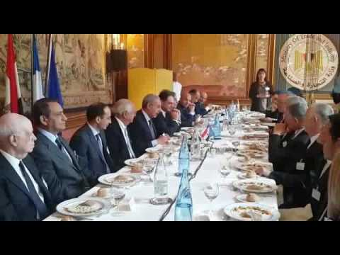 اجتماع الوزير/طارق قابيل بمجلس الاعمال المصرى الفرنسى المشترك والذى عقد بباريس
