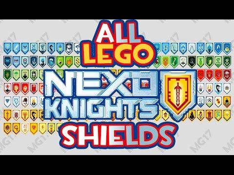 All Lego Nexo Knights Shields - Scan and Enjoy!