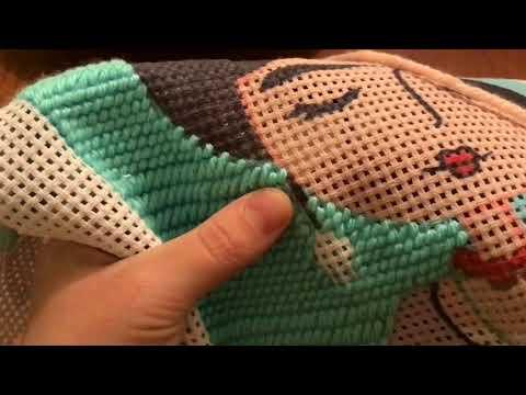 Curso de bordado de tapices en cañamazo gobelino con lana