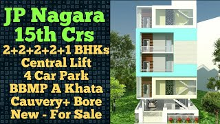 JP Nagar 5 Units New Building with Lift For Sale | 15th Cross Bangalore