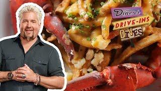Guy Fieri Eats LOBSTER Poutine On #DDD   Food Network