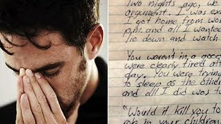 Ungrateful Wife Let Him And Her Son After Fight, 2 Days Later He Writes Letter Everyone Should Read