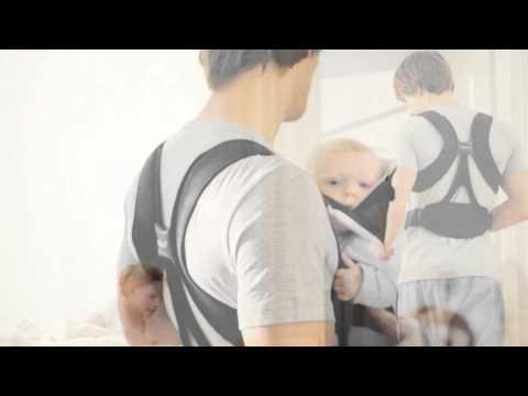 BabyBjorn Miracle Cotton Mix рюкзак для переноски ребенка черный/серебристый