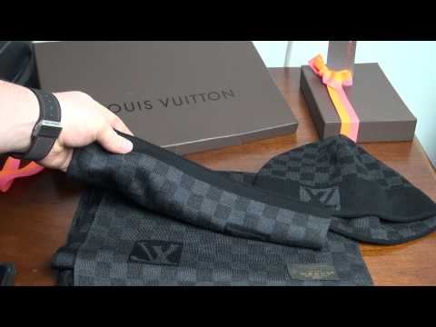 Louis Vuitton Damier Graphite Wool Scarf and Hat