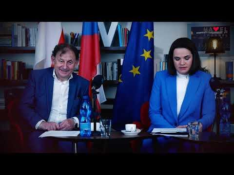 Přehrát video: Svjatlana Cichanouská meeting NGOs in the Václav Havel Library, June 8, 2021