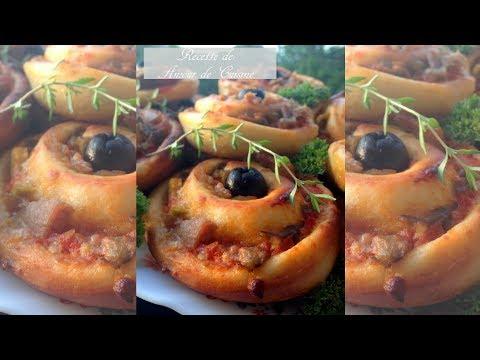 recette facile de roulés au thon  ou pizza rolls, de Amour de cuisine