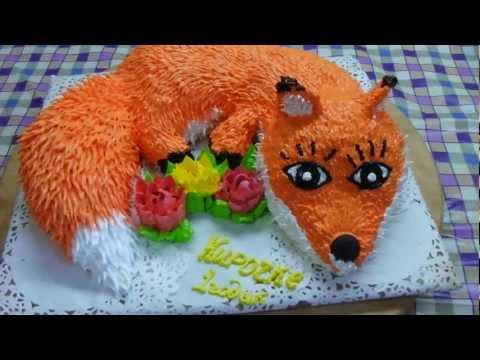 Идея торта в виде лисички
