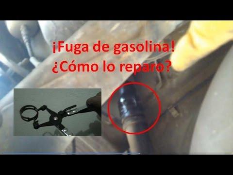 Cambio del tubo flexible del tanque de gasolina