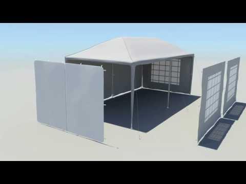 Steckpavillon Seitenteile von JAROLIFT