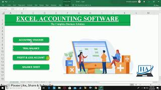 Excel Accounting Software    Learn how to make Fully Automatic Excel Accounting Software