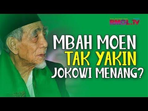 Mbah Moen Tak Yakin Jokowi Menang?