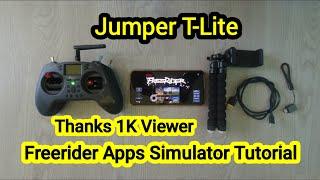 Jumper T-Lite + Freerider apps simulator FPV drone tutorial on android phone