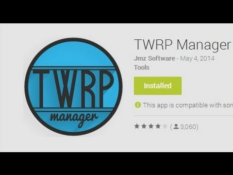 Video of TWRP Manager  (ROOT)