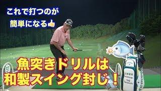 【地面反力スイングの基本】魚突きドリルは和製スイング封じのドリルだった!!