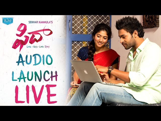 Sekhar Kammula Fidaa Telugu Movie Audio Launch LIVE | Varun Tej | Sai Pallavi